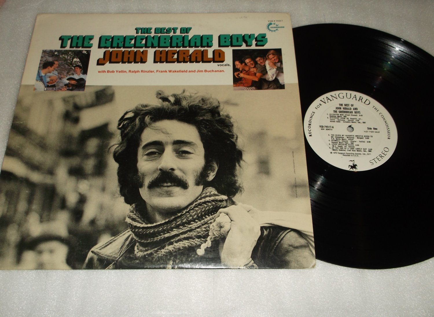 The Best Of The Greenbriar Boys  John Herald  Promo Issue Record