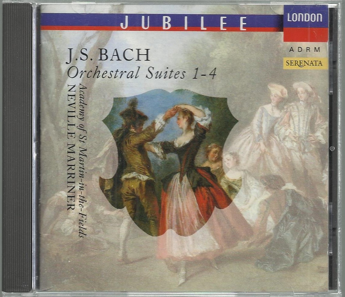 J S Bach  Orchestral Suites 1-4  Neville Marriner    Classical  CD