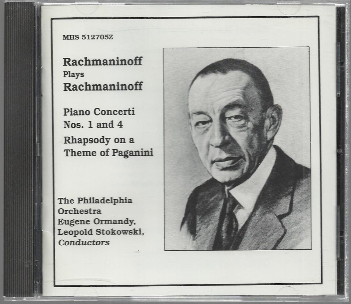 Rachmaninoff  Ormandy Stokowski   Piano Concerto Nos. 1 and 4    Classical  CD