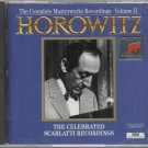 Vladimir Horowitz  Complete Masterworks Recordings Vol. 2   Classical  CD