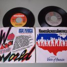 Lot Of 2 Michael Jackson  We Are The World   Hands Across America  45rpm Records