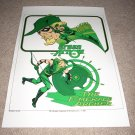 Large 18 X 24 Green Arrow Super Powers Poster
