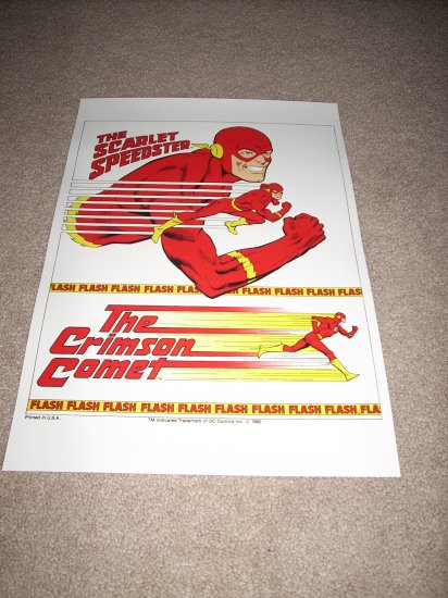 Large 18 X 24 THE FLASH Crimson Comet Super Powers Poster