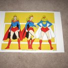Large 18 X 24 Superman / Supergirl Super Powers Poster