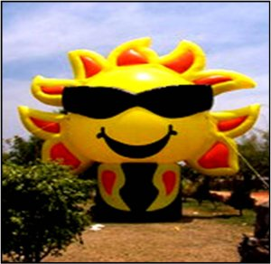 SUN ADVERTISING INFLATABLE TROPICAL TANNING SALON SPAS BUSINESS SIGNS PARTY NEON AD INFLATABLES
