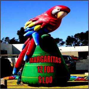 MARGARITAS LUAU SIGNS BOAT DIAMOND CARIBBEAN BEACH PARTY MACAWS HAWIIAN SHIRTS COCONUTS PARROT PARTY