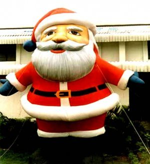 TRADITIONAL SANTA CHISTMAS HOLIDAYS DECORATIONS NOT A GEMMY AIR BLOWN INFLATABLES BALLOONS SIGNS