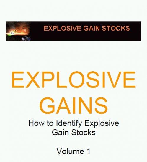 Explosive Price Gaining Stocks