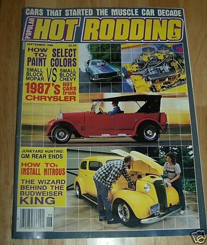 Popular Hot Rodding September 1986 - Muscle Cars
