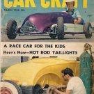 Car Craft March 1955 - Race Car Kids Taillight 34 Tudor