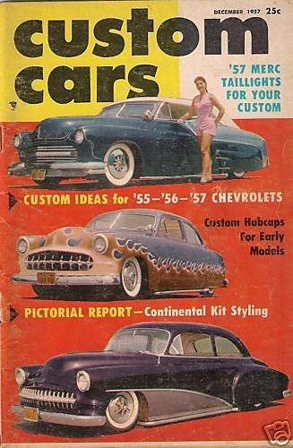 Custom Cars December 1957 #4 - Continental Kit Chevy