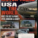 Motor Trend March 1998 - Jaguar BMW Lexus Mercedes STS