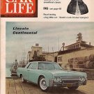 Car Life Magazine March 1961 Cadillac Lincoln Impala