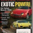 Motor Trend August 1999 - Maserati Ferrari DeTomaso BMW