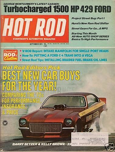 Hot Rod September 1971 - Turbo 1500HP 429 Ford - Racing