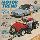 Motor Trend August 1962 - Corvette Wildcat Indy Stock