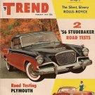 Motor Trend February 1956 - Rolls, Corvette, Studebaker