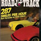 Road & Track May 1987 - Porsche Cobra Corvette Racing