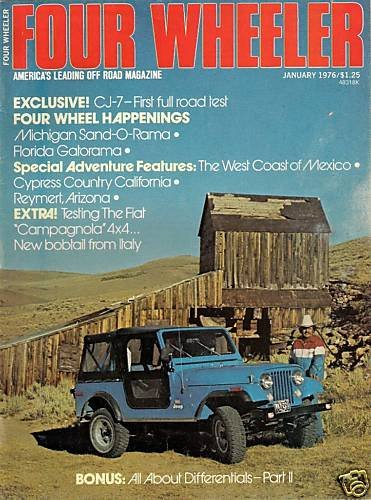 Four Wheeler January 1976 Jeep Racing 4WD Truck Fiat