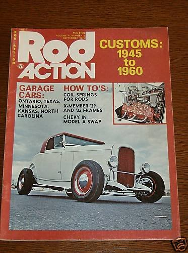 Rod Action Magazine September 1975 - Classic Car Street
