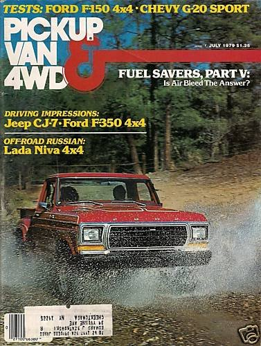 Pickup Van & 4WD Magazine July 1979 Russian Lada Niva