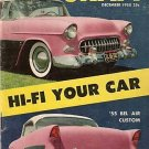 Car Craft December 1955 -Hi-Fi Pink Bel Air Speed Trial