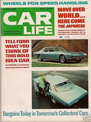 Car Life Magazine August 1968 Techna Buggie Toyota Auto