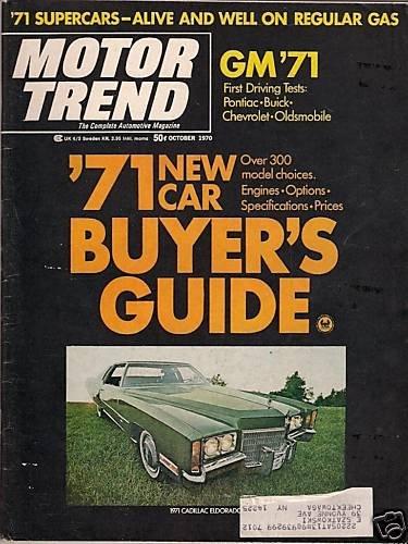 Motor Trend October 1970-Cadillac Eldorado James Garner