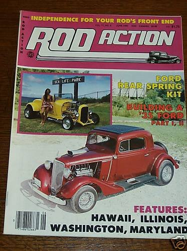 Rod Action June 1982 - '31 Ford Vicky, Suspension