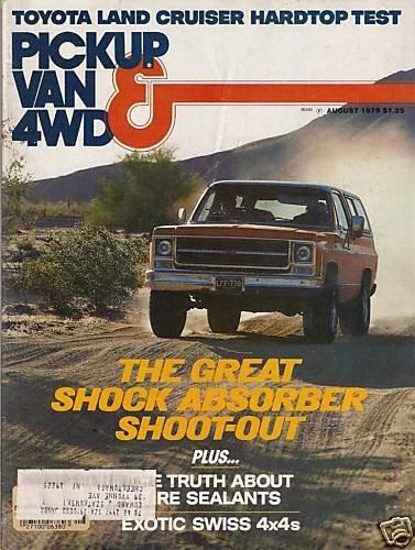 Pickup Van & 4WD Magazine August 1979 Exotic Swiss 4x4