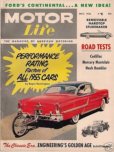 """Motor Life May 1955 - Nash Montclair """"The Racers"""" Movie"""