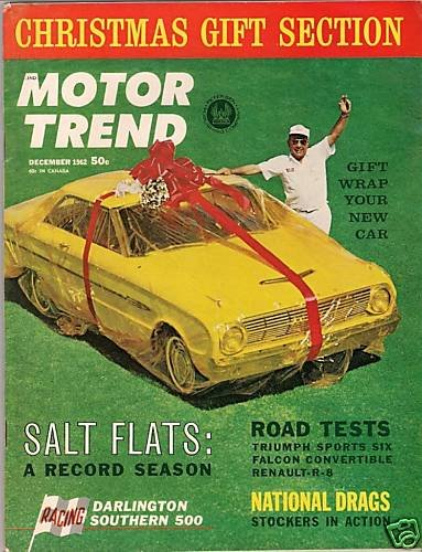 Motor Trend Decembre 1962 - Triumph Falcon Renault Indy