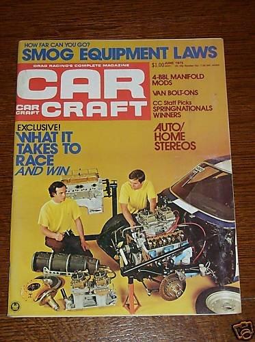 Car Craft Magazine June 1975 - Classic Cars NHRA