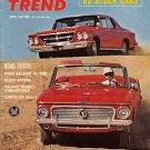 Motor Trend April 1963 - Valiant Chrysler 300-J Racing