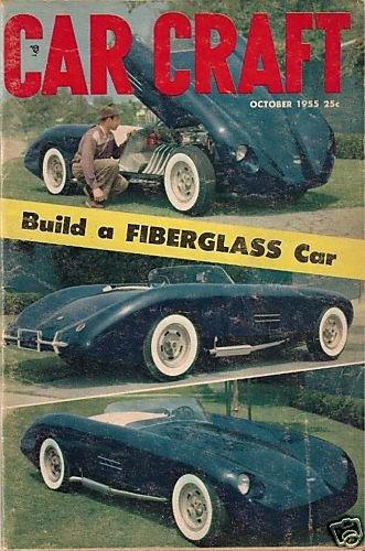 Car Craft October 1955  Fiberglass GMC Bel Air Corvette