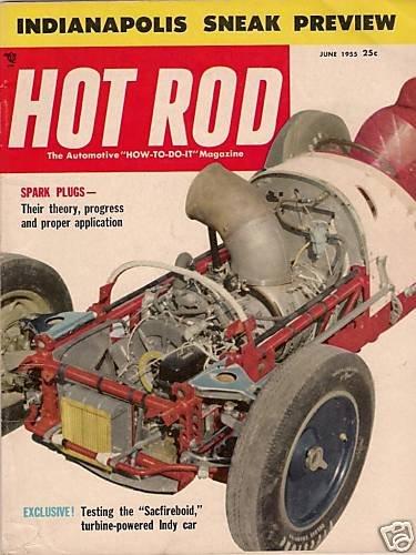 Hot Rod June 1955 - Indianapolis NHRA Drag Racing Indy