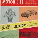 Hop Up and Motor Life Magazine March 1954 - Car Racing