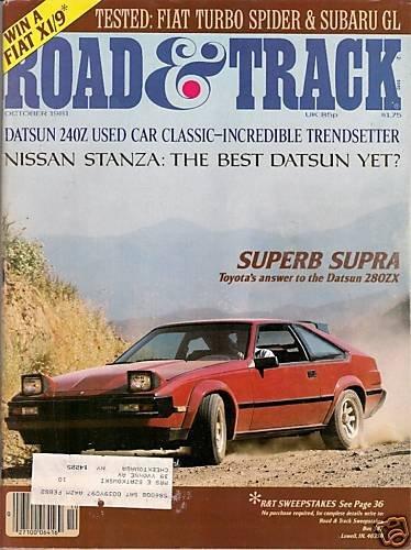 Road & Track October 1981 - Supra Stanza Spider Celica