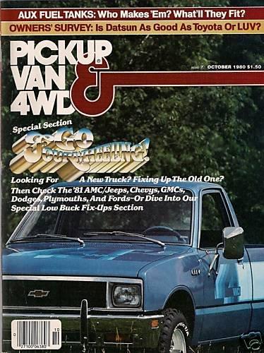 Pickup Van & 4WD Magazine October 1980 Dodge Mini-Ram