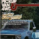 Pickup Van & 4WD Magazine October 1980 Dodge Mini-Ram