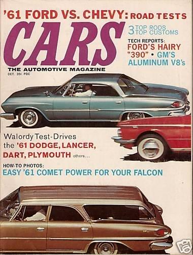 Cars Magazine October 1960 Comet Falcon Lancer Dart V8