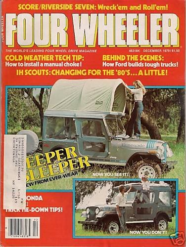 Four Wheeler December 1979 - Scout Camping Jeep Toyota
