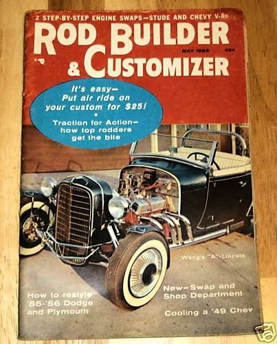 "Rod Builder & Customizer May 1956 - Wong's ""A"" Lincoln"