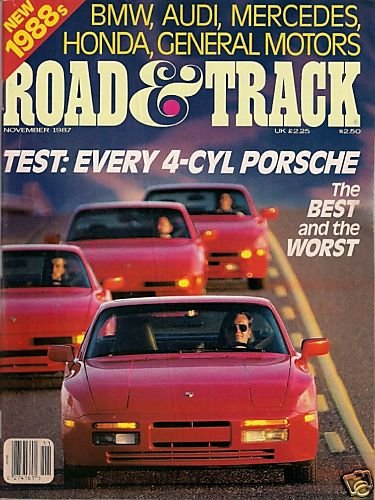 Road & Track November 1987 - Porsche BMW Audi Mercedes