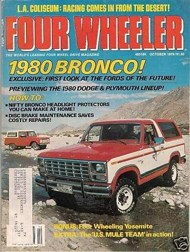 Four Wheeler October 1979 - Circus Maximus Scout Trucks