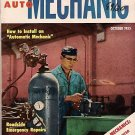 Home Auto Mechanic Oct 1955 Car Magazine Fix Repair Old
