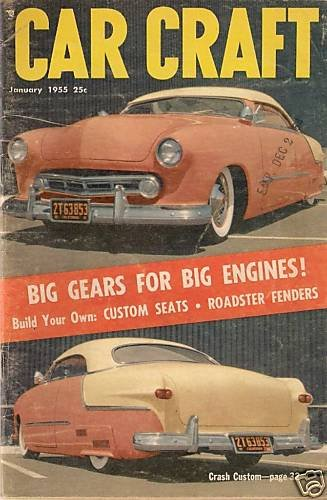 Car Craft January 1955 - Chevy GMC Fender Skirt Coupe