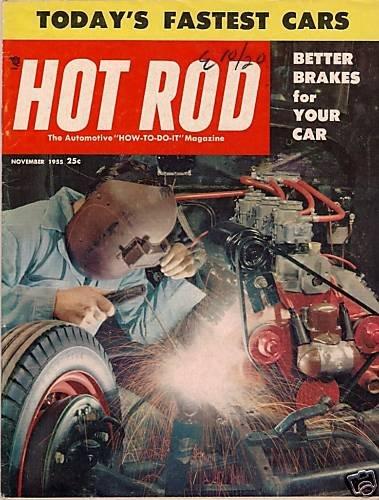 Hot Rod November 1955 - Drag Racing Dragster Bonneville