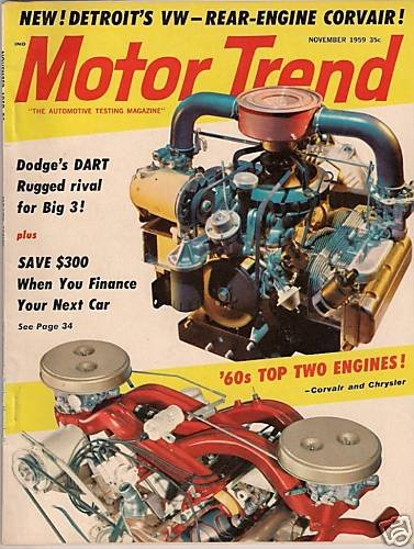 Motor Trend November 1959 - Corvair Dart Imperial Ford