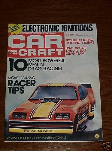 Car Craft Magazine May 1975 - Classic Cars NHRA